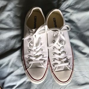 Women's white with red stripe converse size 10